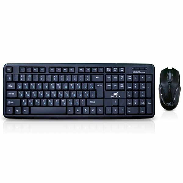 Delkin WKM007 Wireless Keyboard & Mouse Combo