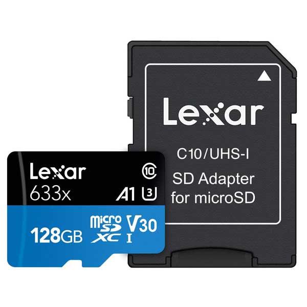 Lexar High-Performance 633x 128GB microSDXC UHS-I Memory Card