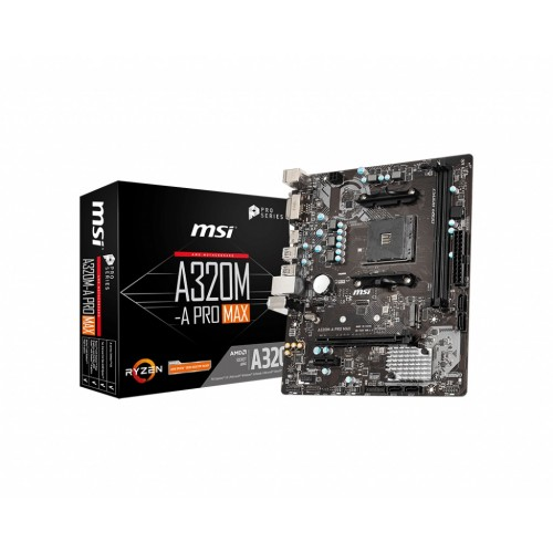 MSI A320M-A Pro Max AMD AM4 Socket Motherboard