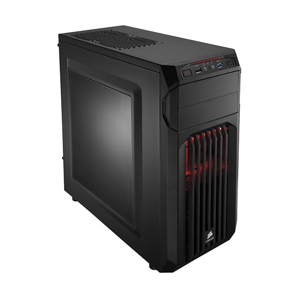 Corsair Carbide Series SPEC-01 Red LED Mid-Tower Gaming CPU Case