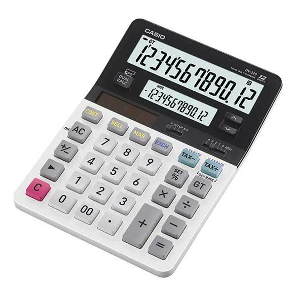 Casio DV-220 Dual Display Desktop Calculator