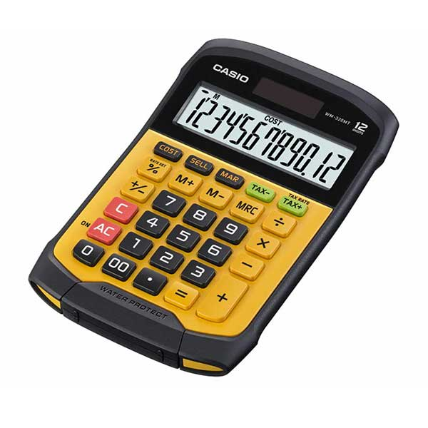 Casio WM-320MT Water-protected and Dust-proof Mini Desk Type Desktop Standard Calculator