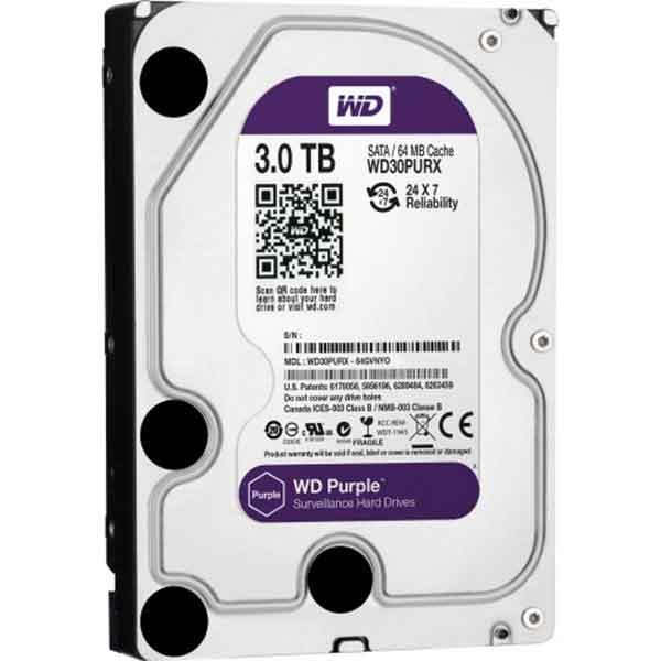 Western Digital 3.5 Inch 3TB (Purple) SATA Surveillance HDD