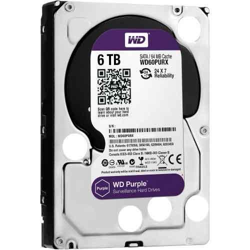 Western Digital 3.5 Inch 6TB (Purple) SATA Surveillance HDD