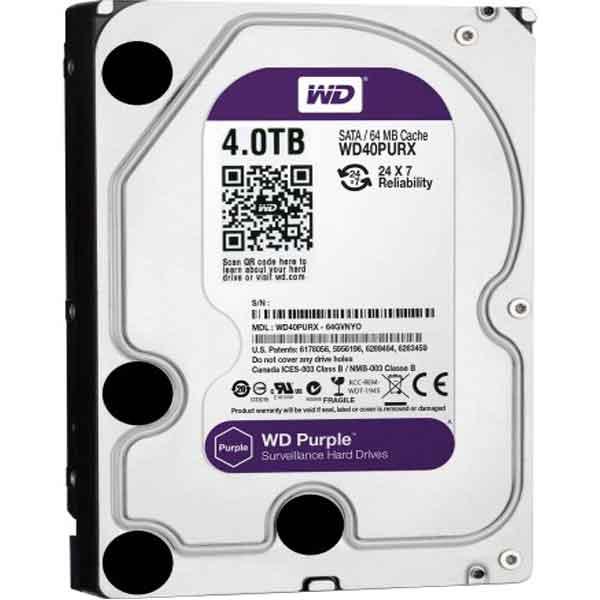 Western Digital 3.5 Inch 4TB (Purple) SATA Surveillance HDD