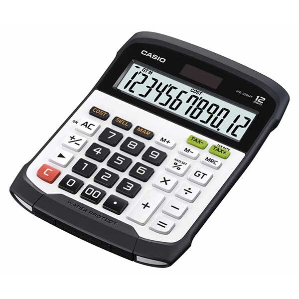Casio WD-320MT Water-protected and Dust-proof Desktop Standard Calculator