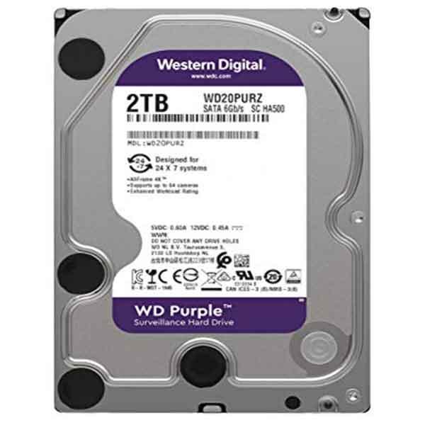 Western Digital 3.5 Inch 2TB (Purple) SATA Surveillance HDD