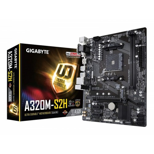 Gigabyte GA-A320M-S2H AMD AM4 Socket Motherboard