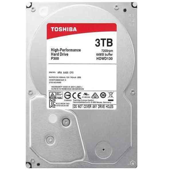 Toshiba 3.5 Inch 3TB SATA Desktop HDD