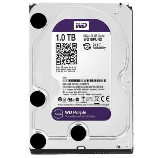 Western Digital 3.5 Inch 1TB (Purple) SATA Surveillance HDD