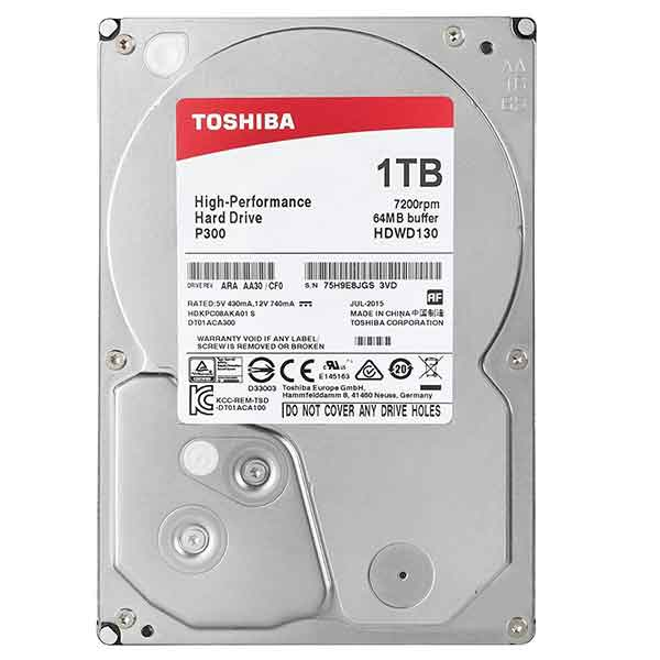 Toshiba 3.5 Inch 1TB SATA Desktop HDD