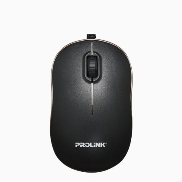 Prolink PMC1006 USB Optical Mouse (Black-Gold)