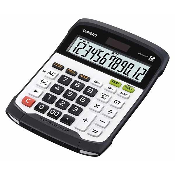 Casio WD-320MT Water-protected and Dust-proof Desktop Standard Calculator