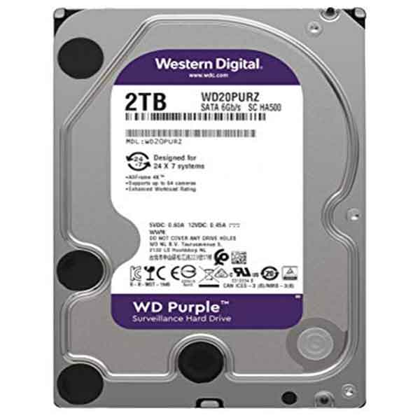 Western Digital 3.5 Inch 2TB (Purple) SATA Surveillance HDD
