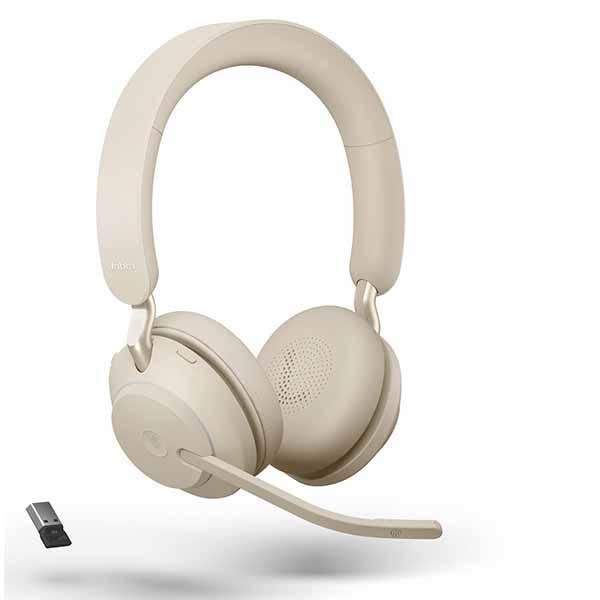 Jabra Evolve2 65 Beige UC Stereo Headset